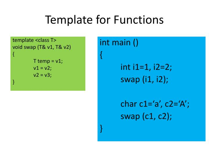 Template for Functions