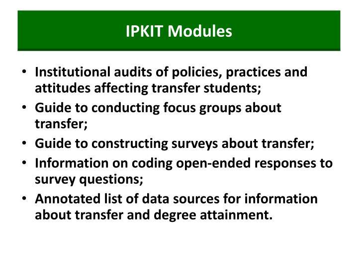 IPKIT Modules