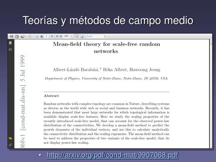 Teorías y métodos de campo medio