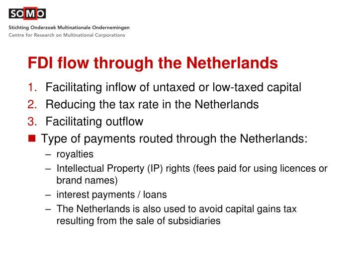 FDI flow through the Netherlands