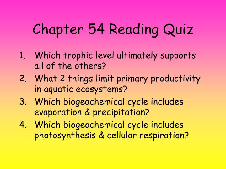 Chapter 54 reading quiz