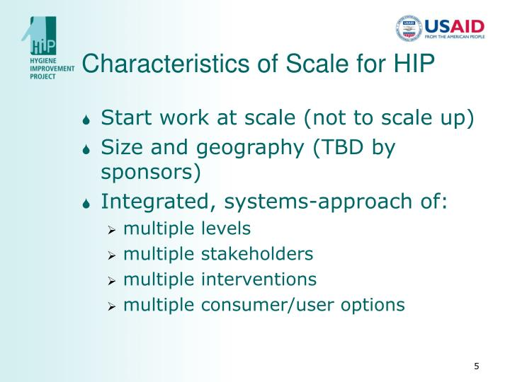 Characteristics of Scale for HIP