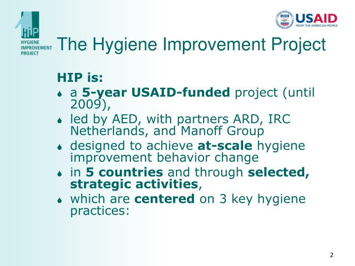 The hygiene improvement project