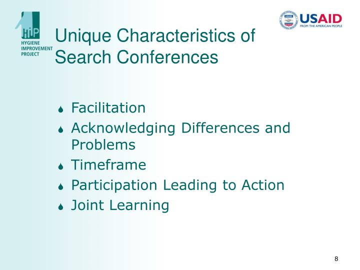 Unique Characteristics of Search Conferences
