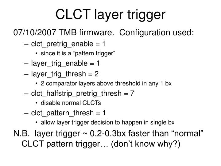 CLCT layer trigger