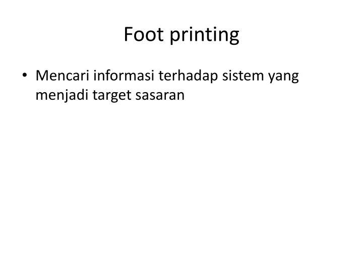 Foot printing