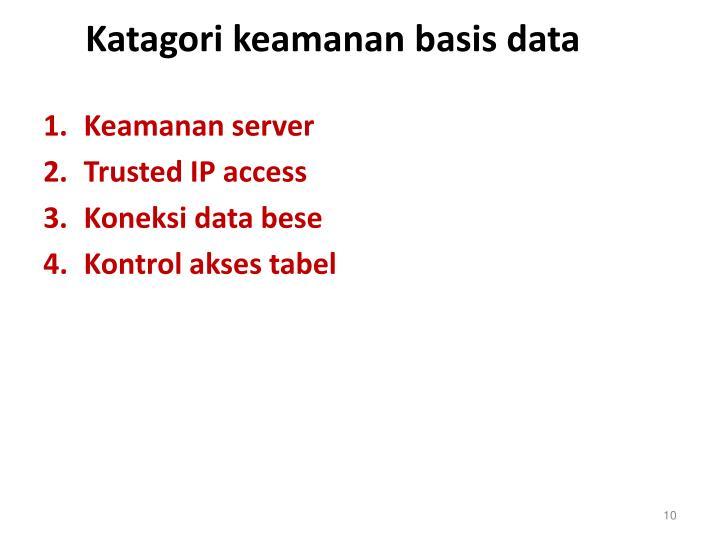 Katagori keamanan basis data