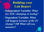 building your lab report3