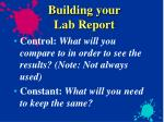 building your lab report4