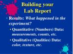building your lab report5