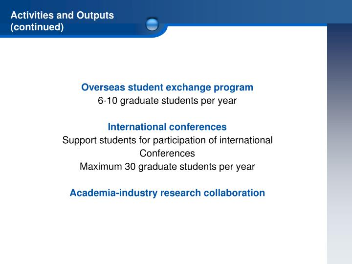 Overseas student exchange program