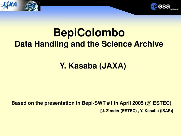 Bepicolombo data handling and the science archive