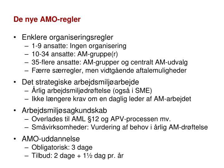 De nye AMO-regler