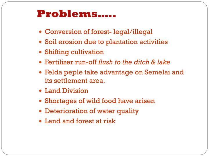 Problems…..