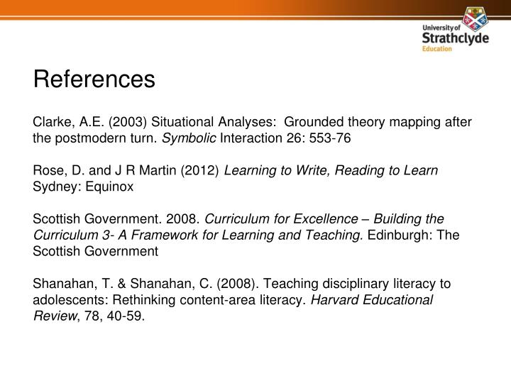Clarke, A.E. (2003) Situational Analyses:  Grounded theory mapping after the postmodern turn.
