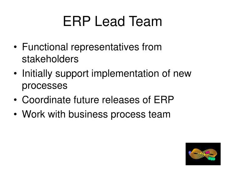 ERP Lead Team