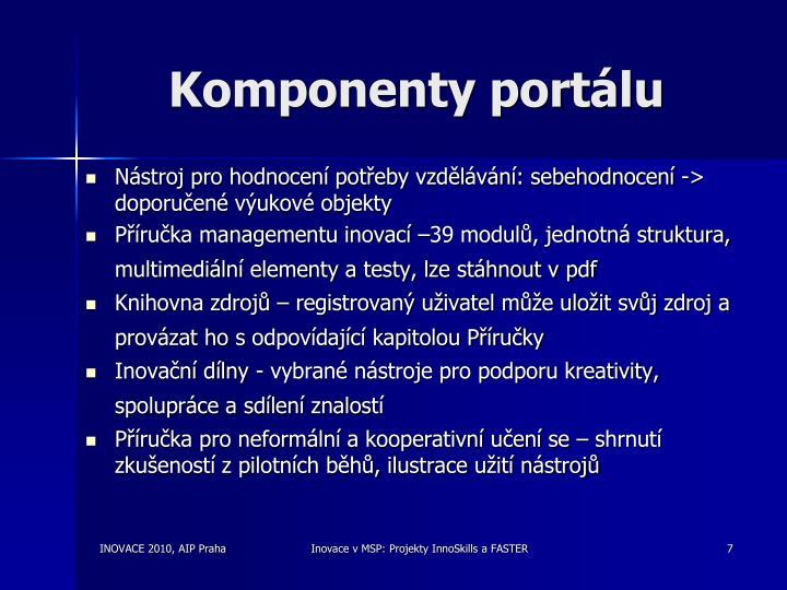 Komponenty portálu