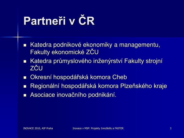 Partneři v ČR