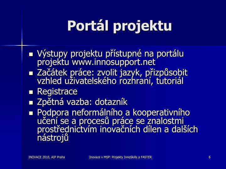 Portál projektu