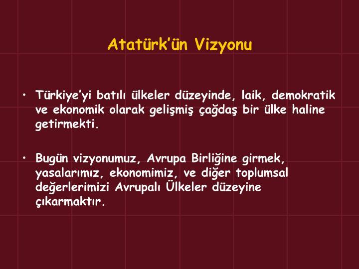 Atatürk'ün Vizyonu