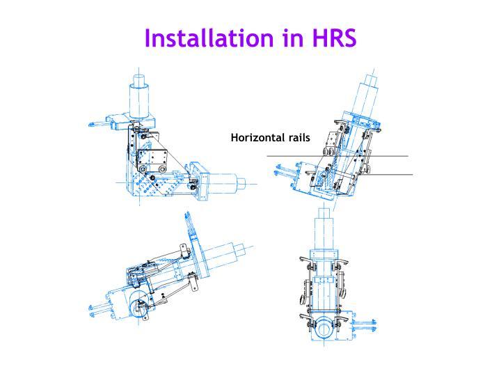 Horizontal rails