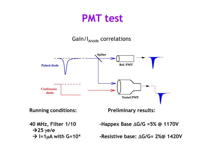 PMT test