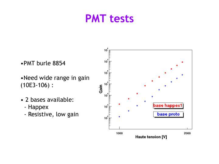PMT tests