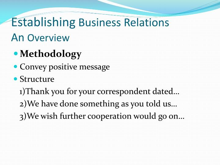 Establishing business relations an overview1