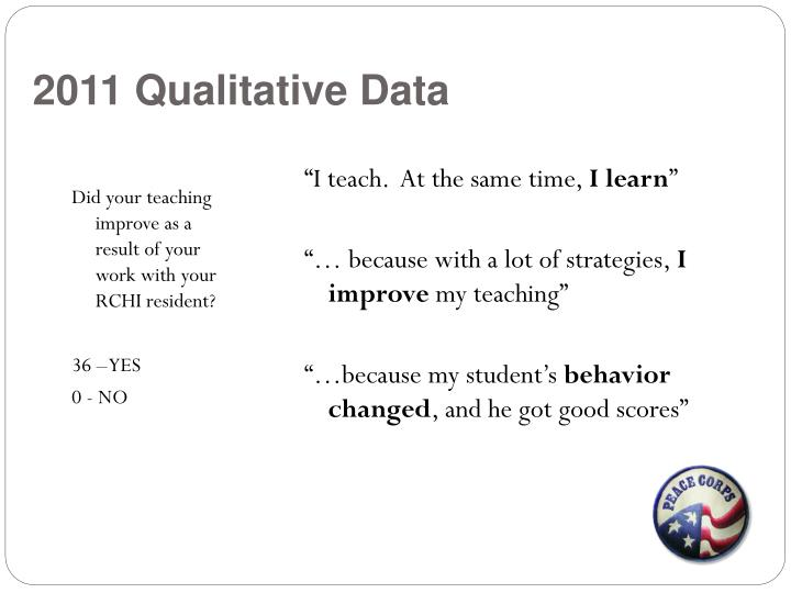 2011 Qualitative Data