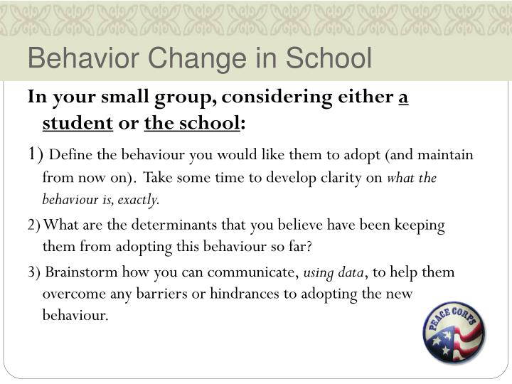 Behavior Change in School