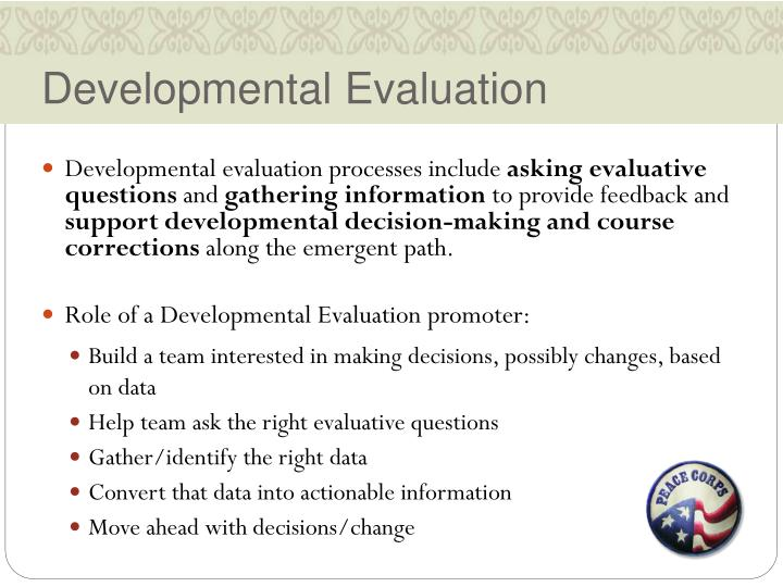 Developmental Evaluation