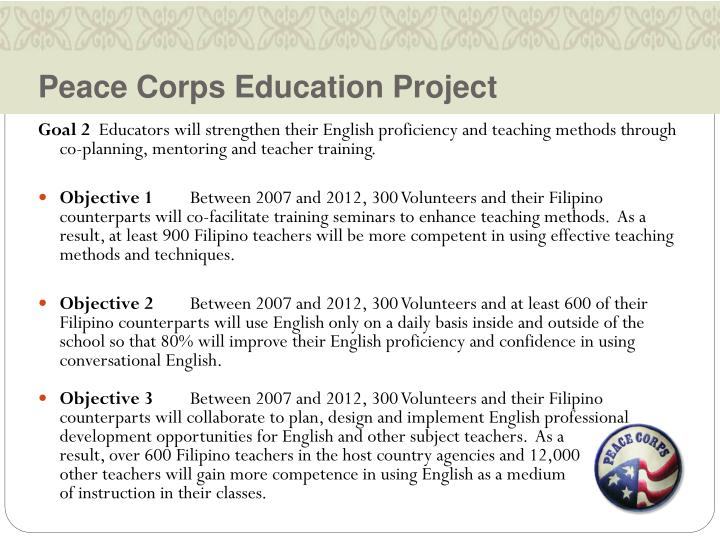 Peace Corps Education Project