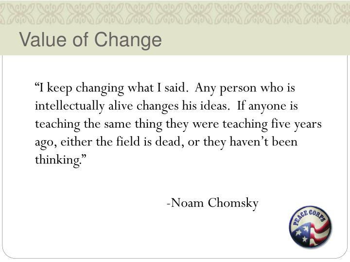 Value of Change