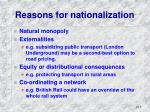 reasons for nationalization