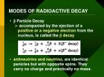 modes of radioactive decay1