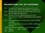 organizations that set standards