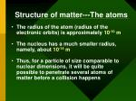 structure of matter the atoms1