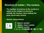 structure of matter the nucleus1