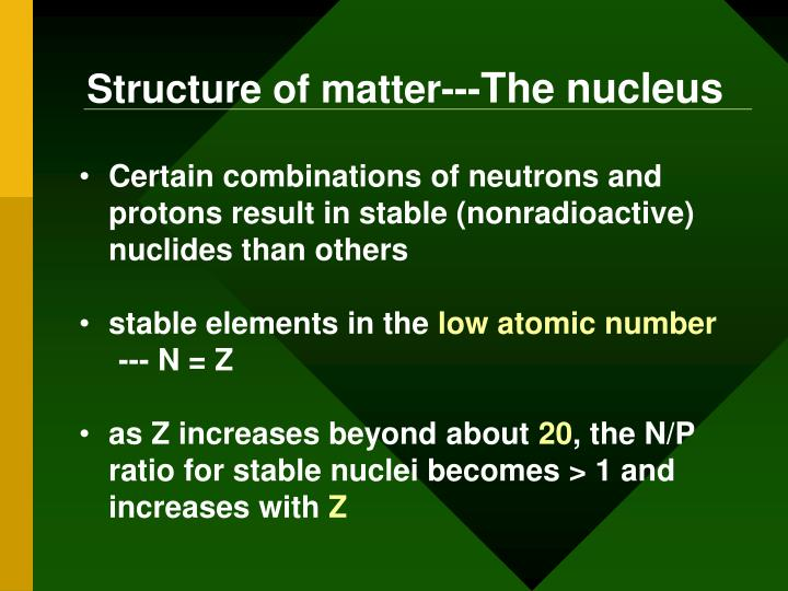 Structure of matter---