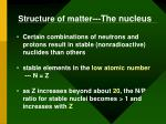 structure of matter the nucleus2