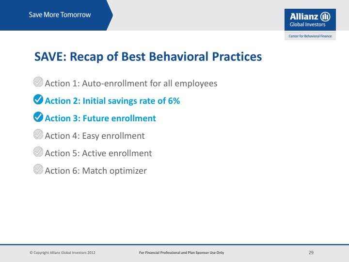 Action 1: Auto-enrollment for all employees