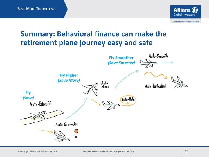 Summary: Behavioral finance can make the