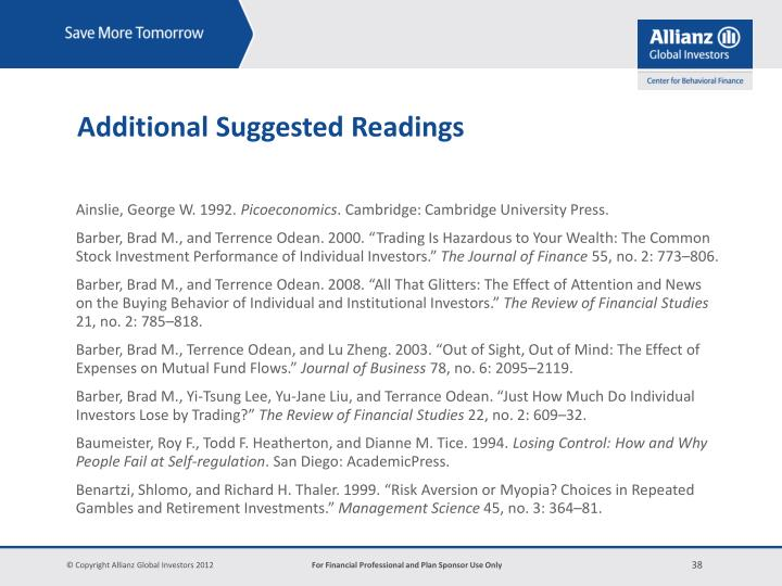 Additional Suggested Readings