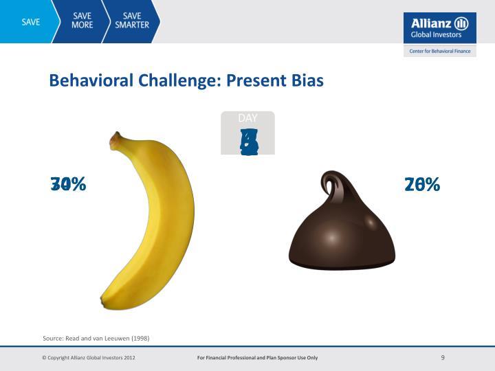 Behavioral Challenge: Present Bias