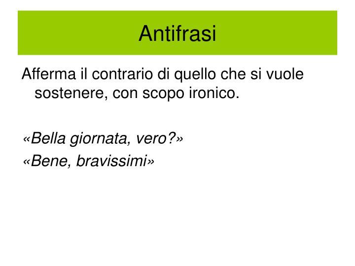 Antifrasi