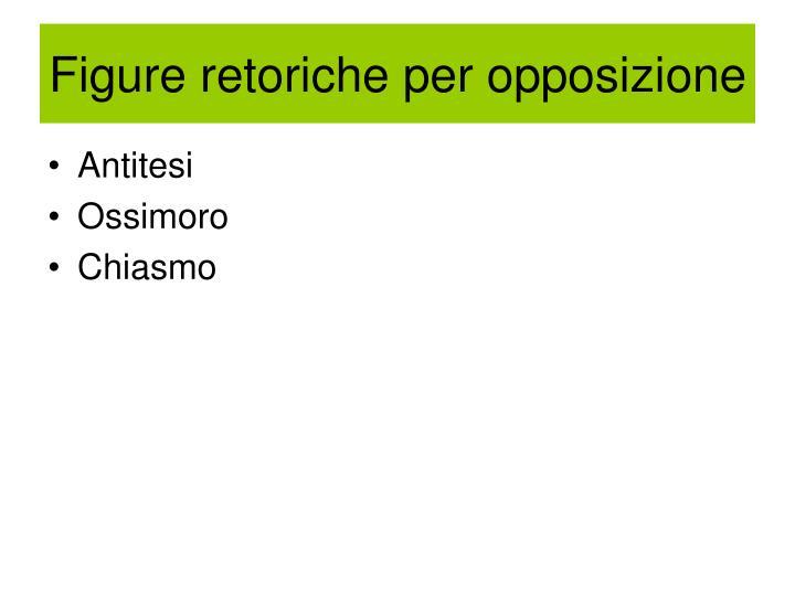 Figure retoriche per opposizione
