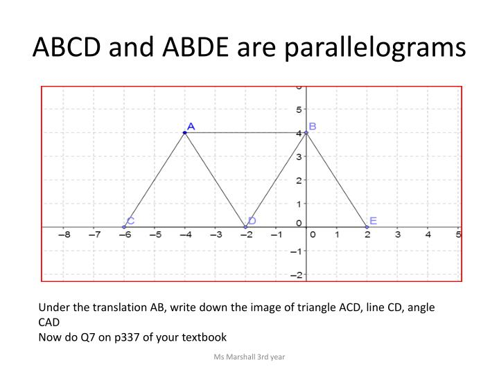 ABCD and ABDE are parallelograms