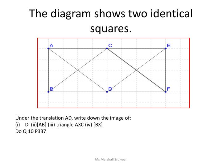 The diagram shows two identical squares.
