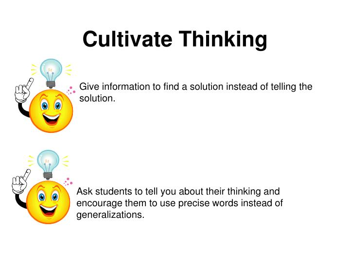 Cultivate Thinking
