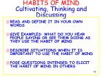 habits of mind cultivating thinking and discussing1
